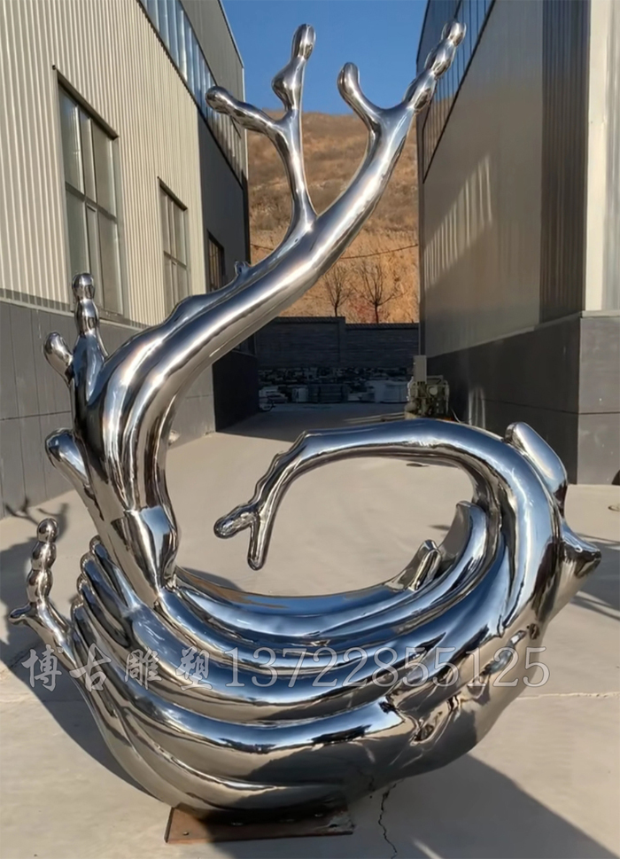 不锈钢浪花雕塑