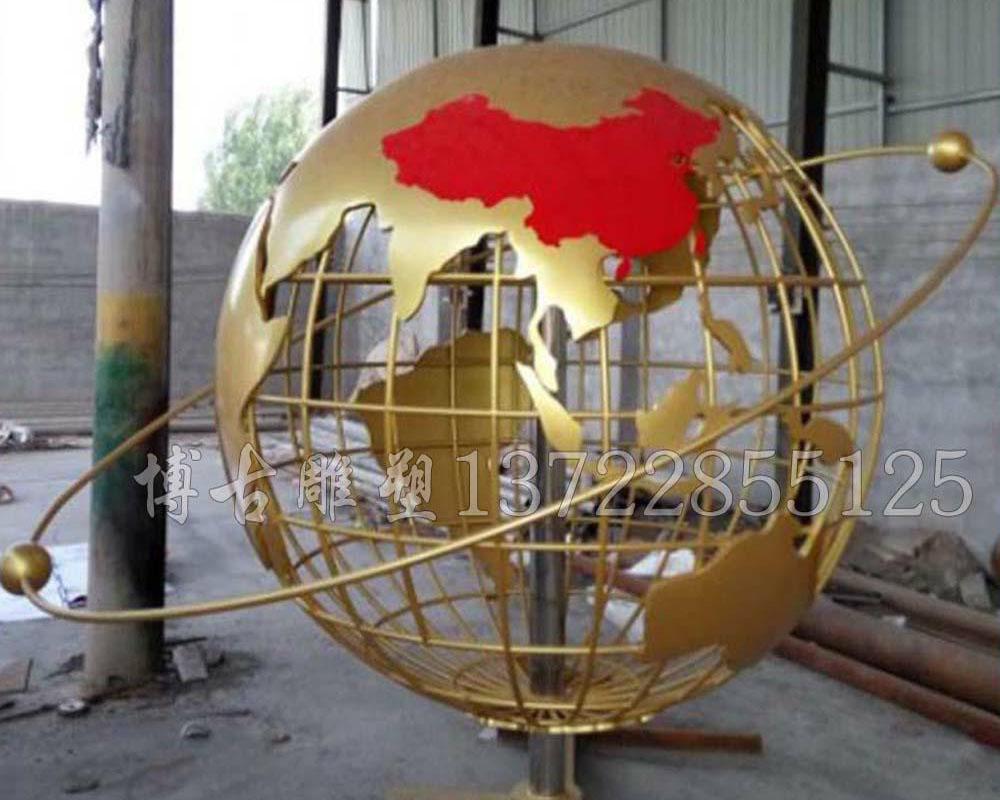 不锈钢地球仪雕塑  地球仪不锈钢雕塑厂家