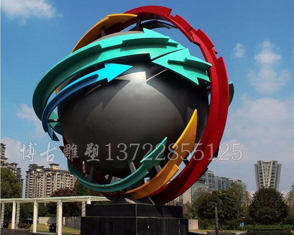 不锈钢地球仪雕塑地球仪雕塑厂家河北博古雕塑