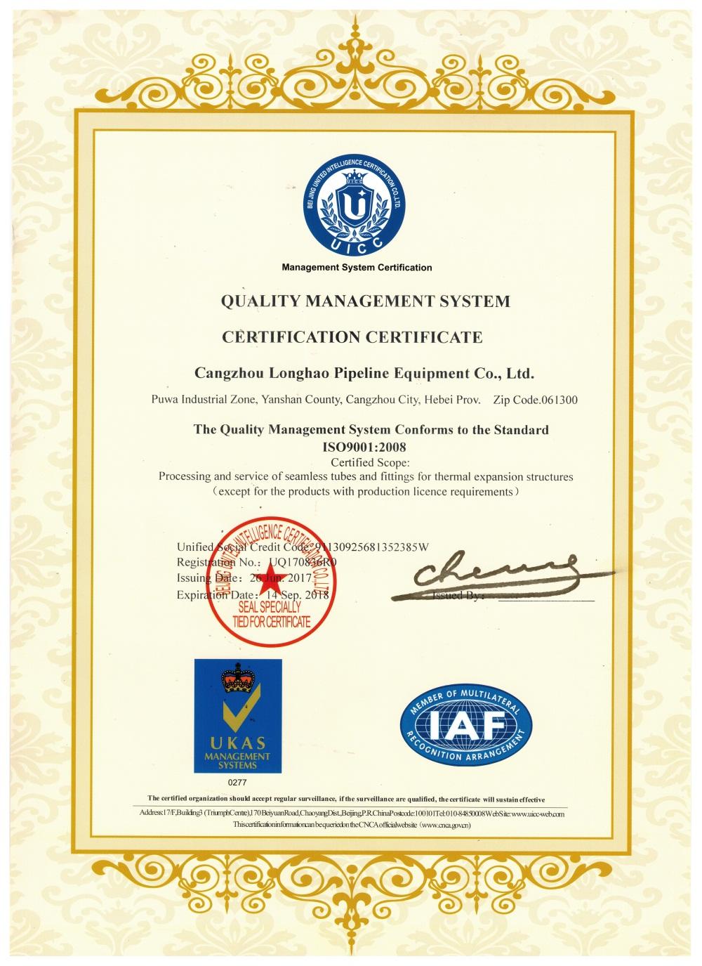 ISO 9001英文
