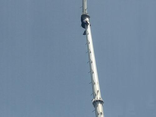 山东石岛单管避雷铁塔