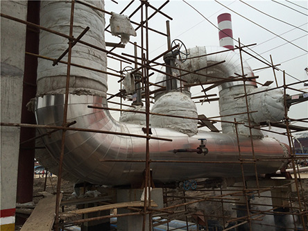 铝厂大管径高温管道保温