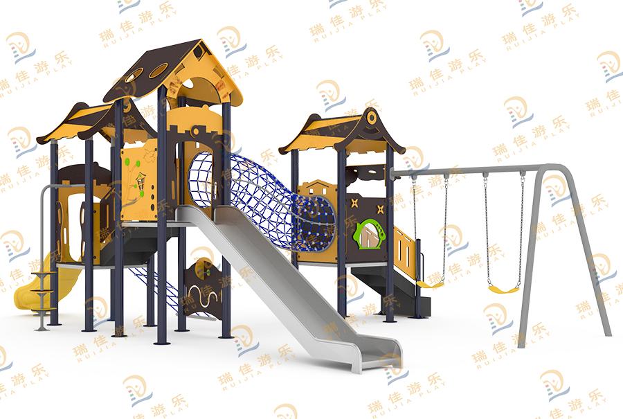 PE板造型组合不锈钢滑梯