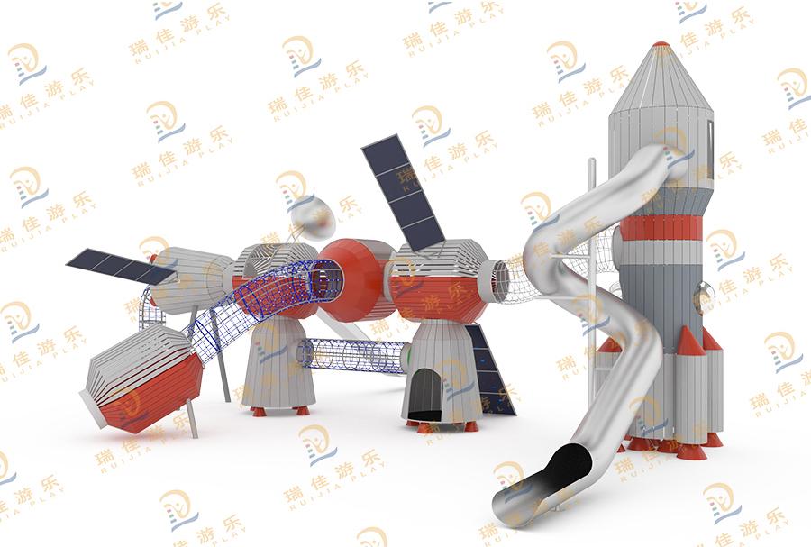 造型航空体能拓展不锈钢滑梯