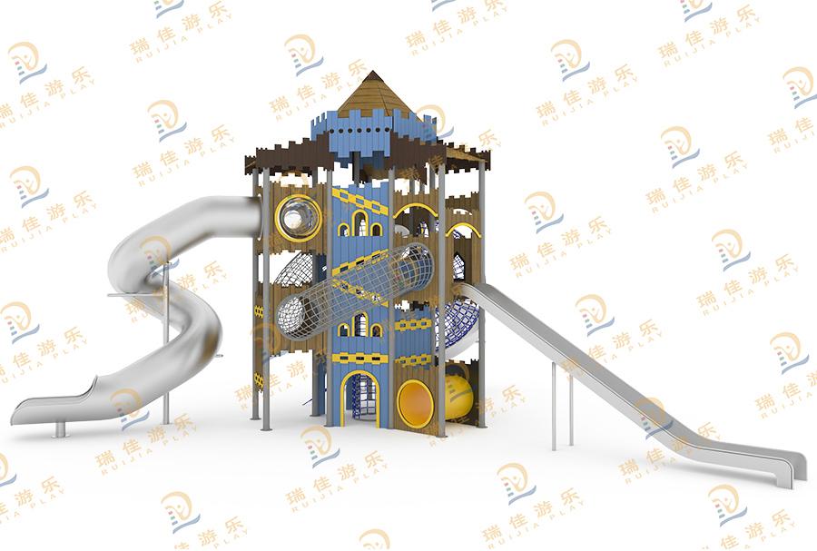 抗倍特板城堡不锈钢滑梯