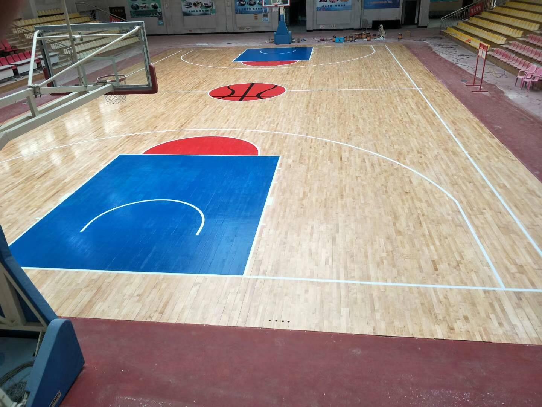 河南许昌发电厂篮球馆翻新