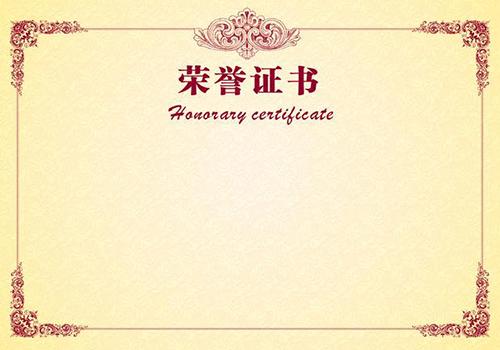 荣誉证书8
